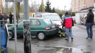 Kolizja dwóch samochodów w Jedliczu
