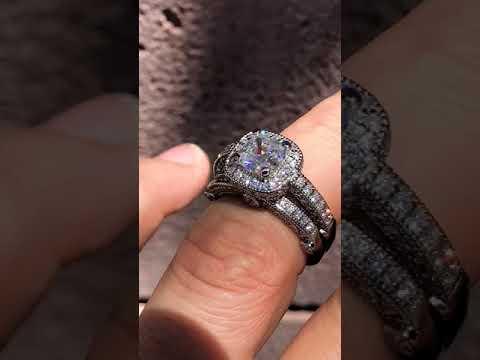 eng060-F1 w/Matching Diamond Band