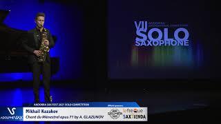 Mikhail Kazakov plays Chant du Ménestrel opus 71 by Alexander GLAZUNOV