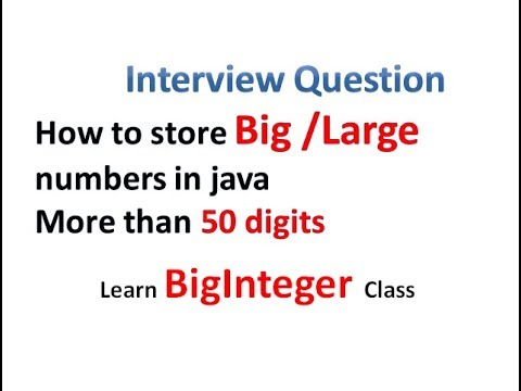 mp4 Java Store Very Large Number, download Java Store Very Large Number video klip Java Store Very Large Number
