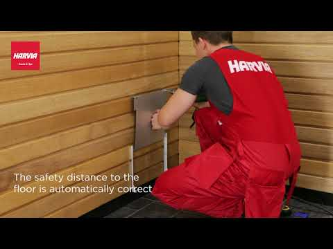 Harvia - The Wall - installling the heater