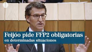 Feijóo pide al Gobierno que las FFP2 sean obligatorias en determinadas situaciones