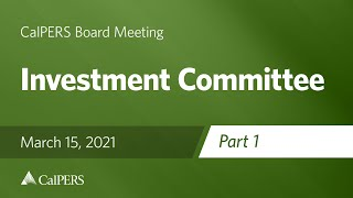 Investment Committee - Part 1 | March 15, 2021