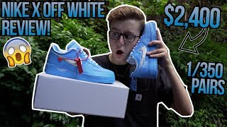 How Nike and Off White SCREWED US   NIKE X OFF WHITE MCA AIR FORCE 1 BLUE ON FEET REVIEW