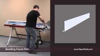 Bending Fascia trim