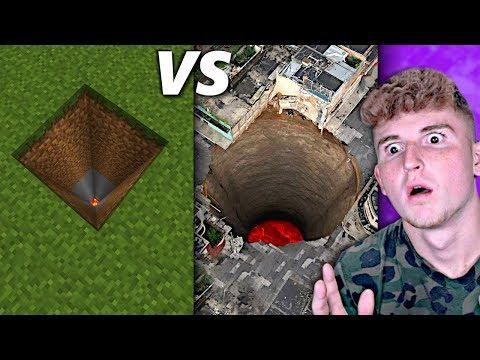 Real Life VS Minecraft.. (UNBELIEVABLE)