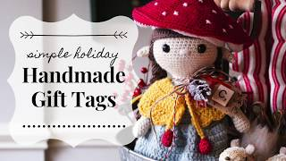 Simple Holiday Handmade Gift Tags