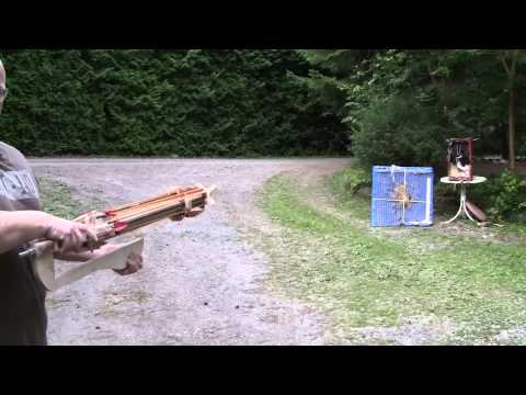 This Homemade Crossbow Revolver Shoots Arrows Too Fast To See