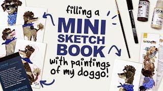 PAINTING MY DOG!  | Mystery Art Box | January Art Snacks Unboxing | Acrylic Fluid Paint