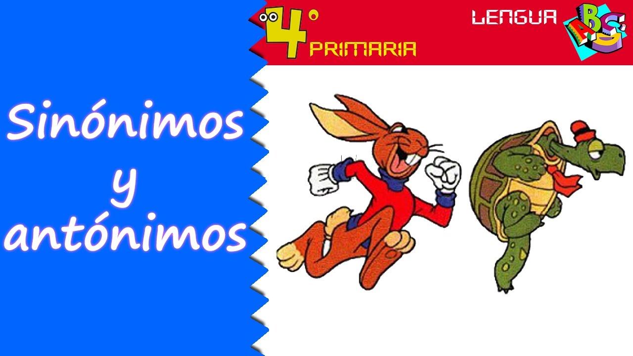 Lengua Castellana. 4º Primaria. Tema 2. Sinónimos y antónimos