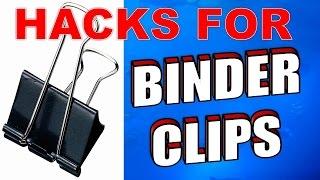 20 Amazing Binder Clips Uses, Life Hacks & Tricks