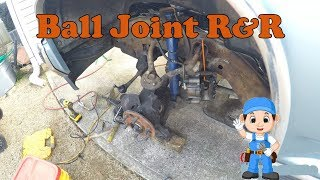 How to remove and reinstall front ball joints on a 1989 chevy k1500 silverado Part 1