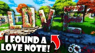 I Found Hidden Love Letters in the Fortnite Creative Hub!