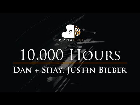 Dan + Shay, Justin Bieber - 10,000 Hours - Piano Karaoke Instrumental Cover with Lyrics