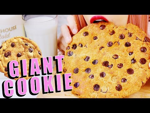 GIANT COOKIE ASMR *relaxing eating sounds* 먹방