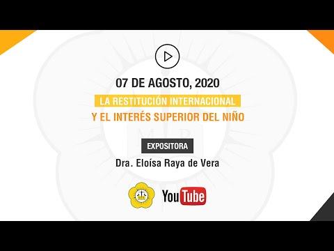 LA RESTITUCIÓN INTERNACIONAL Y EL INTERÉS SUPERIOR DEL NINO - 07 de Agosto 2020