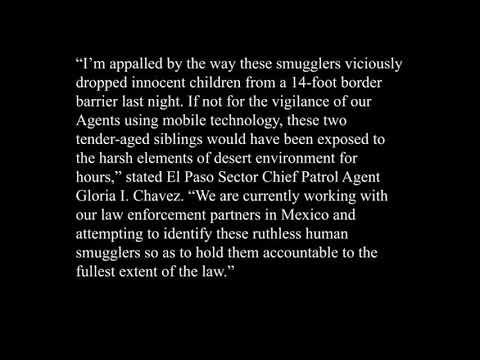 بالفيديو .. رمي طفلتين من أعلى جدار أمريكا - المكسيك الحدودي
