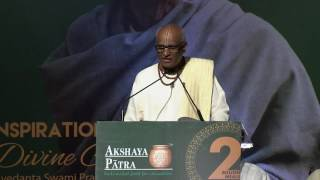 Shri Madhu Pandit Dasa – Chairman, Akshaya Patra speaks on 2 Billion Meals commemoration
