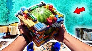 Что если СБРОСИТЬ АРБУЗ в LEGO с 10го ЭТАЖА.?!
