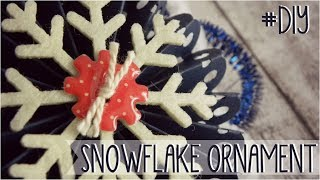 XMAS SERIES: Snowflake Ornament - adorno copo de nieve