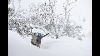 30cm so far! The snow just keeps coming!