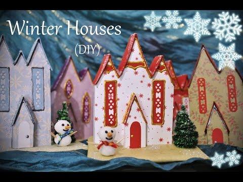 Πως να φτιάξετε χειμωνιάτικο χριστουγεννιάτικο σπιτάκι