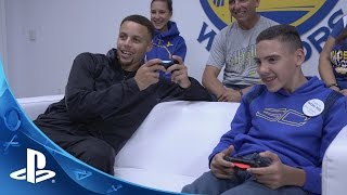 PlayStation HEROES: Stephen Curry makes a wish come true for Shawn Rocha