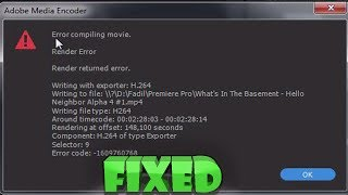 How To Fix Adobe Premiere Pro Error Compiling Movie