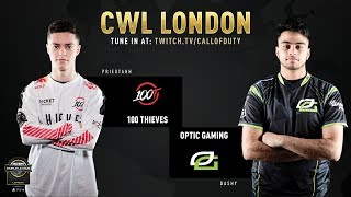 100 Thieves vs Optic Gaming | CWL London 2019 | Day 1