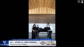 DUO C. ANTUNES & G. GOMES play Paganini Lost by J. Nagao #adolphesax