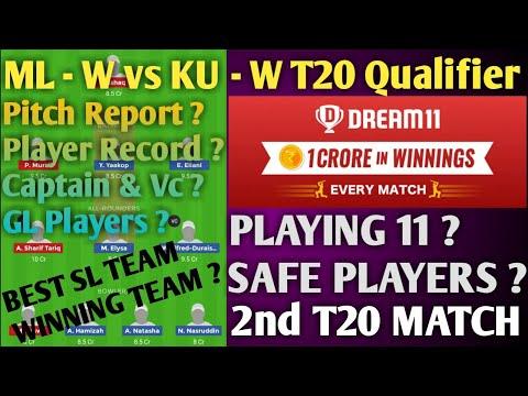 #ML - W vs KU - W Dream 11 Team# | WC Qualifier Match dream team,