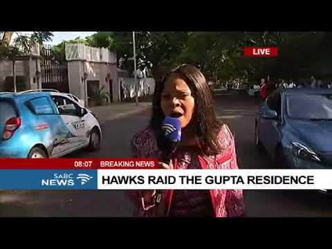 Hawks raid the Gupta compound, Chriselda Lewis reports