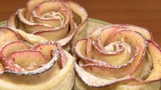 """""""Розы"""" из яблок и слоеного теста / Простые рецепты домашней выпечки"""