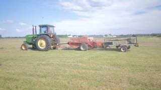 Baling hay with accumulator and grapple (small bale) - Most Popular