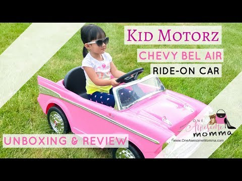 Kid Motorz Chevy Bel Air 1-Seater 12-Volt Ride-On Car in Pink - Unboxing & Review From buybuy Baby