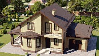 Проект дома 175-A, Площадь дома: 175 м2, Размер дома:  14x11,7 м