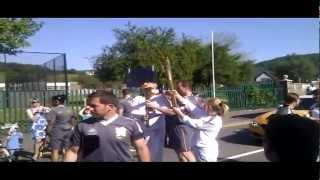 preview picture of video 'Olympic Torch Handover - Briton Ferry at Cwrt Sart'