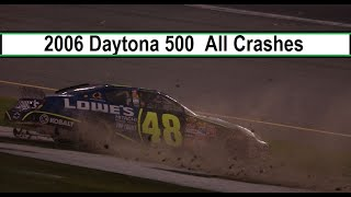 All NASCAR Crashes From The 2006 Daytona 500