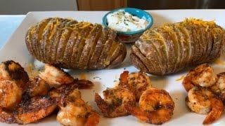 How to make Hasselback Potatoes and Bbq Shrimp