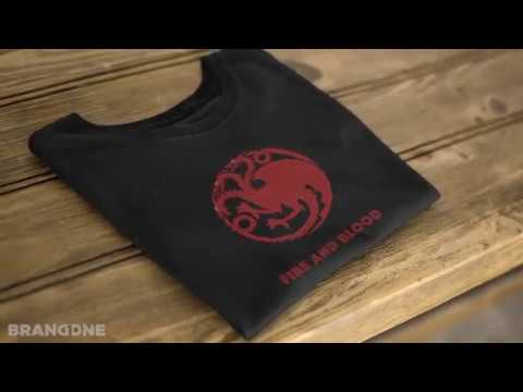 'Fire and Blood' Game of Thrones - House Targaryen t-shirt | BrandOne Store India
