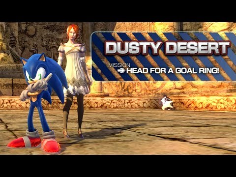 Sonic the Hedgehog 2006 PC Demo - Dusty Desert - смотреть