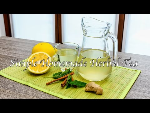 Video Simple Homemade Herbal Tea - A Healthy Drink (Warm or Iced)