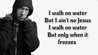 Eminem - Walk On Water ft. Skylar Grey (Lyrics / Lyric Video) | Clean | Live | Official | HD |