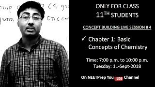 11-Sept - Some Basic Concepts of Chemistry (Part 1) - Concept Building Live Session for NEET 2020