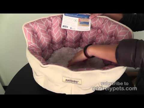 Petlinks Purrr Heaven Pet Bed - Rose Leaf Video