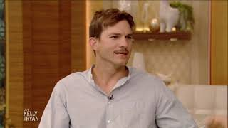 Ashton Kutcher Grew a Mustache for a Party