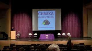 preview picture of video 'Chaska High School Hall of Fame Ceremony 2013'