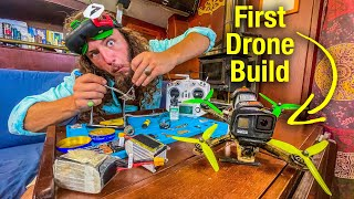 My First Ever FPV Beginner Drone Build | 5 Inch Kwad