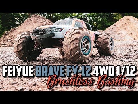 Feiyue Brave FY-12 4WD - Brushless Bashing (stock shocks)