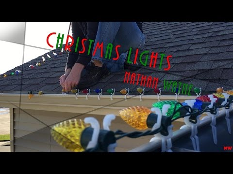 Hanging Christmas Lights Outside